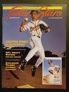 1993 BECKETT FOCUS ON FUTURE STARS ISSUE #27 MAGAZINE CHIPPER JONES ROOKIE