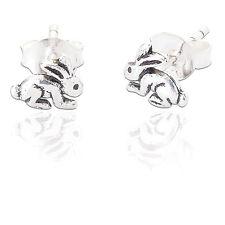 Spoke 925 Sterling Silver Jewelry Girls Bunny Rabbit Children'S Studs #E-12