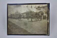 Foto Parade Ulanen Feldgrau mit Stahlhelm und Lanze Ulanka