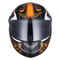 Full Face Motorcycle Helmet DOT Air Vents Clear Visor Racing S M L XL AHR K12