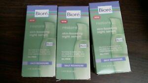 Bioré Restore Skin Boosting Night Serum 1.4 Oz Set of 3