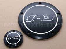 103 Black Edge Cut Derby Cover + Timing Timer for Harley Twin Cam 1999-2014