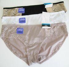3 Bali Satin Indulgence Lace Bikini Panty Multi 2829 Sz 9/2XL - NWT