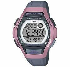 Casio LWS2000H-4AV, Step Tracker, 100 Meter WR, Gray Resin, 5 Alarms, Chrono