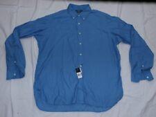 Ralph Lauren Men XL Button Down Shirt Blue Custom Fit Classics03 Classic