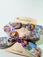 Disney Sofia Handmade Hair Ribbon Girls Thick Bobbles Accessories Bling