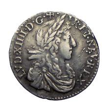 [20205] Royale, Louis XIV, 1/12e écu juvénile, 1662 R, Villeneuve. TTB. Argent.