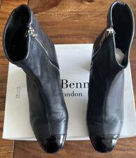 LK Bennett Leather Black Boots UK 6 39 Kelly Boxed