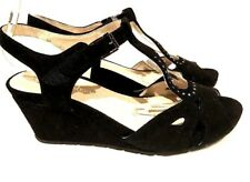 sz 42 /11 TS TAKING SHAPE Ashley Wedge Suede  leather Peep Toe  Shoes NIB
