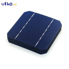 10Pcs 125MM Mono Solar Cells 5x5 Monocrystalline Silicon For DIY Solar Panel