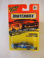 MATCHBOX SUPERFAST #35 PONTIAC STOCK CAR 1993 ISSUE #7 LOGO
