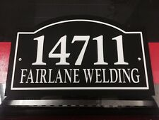 """Arched Address / Company Name Sign 14x8.5"""" 1/4"""" King ColorCore Any Color"""