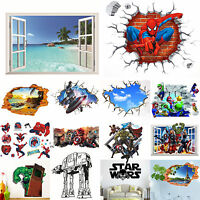 The Avengers Star Wars 3D Wall Stickers Removable Nursery Decor Mural Art Decal