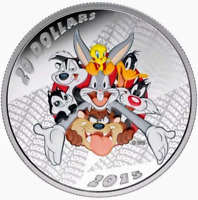2015 LOONEY TUNES™ MERRIE MELODIES BUGS BUNNY 1oz .9999 Silver Coin - Box & COA