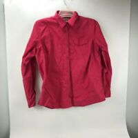 Columbia Women's Roll Tab Long Sleeve Button Down Stretch Shirt Pink Size XL