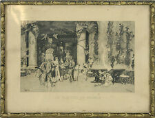 J2-030. L'ÉLECTION DU MODÈLE. GRAVURE SUR PAPIER. FORTUNY SEGUI. 1874.