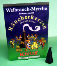"""Knox """"Myrrh"""" Incense Cones, 5 count Sample Packet - Direct From Germany"""