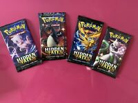 10x Hidden Fates Booster Pack - Pokemon TCG From Collectors Box