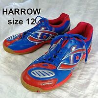 Harrow Mens Size 12 Volt Blue Red Indoor Squash Racquetball Tennis Court Shoes