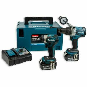 Makita DLX2176TJ 18v Brushless Impact Driver/Combi Drill Twin Kit 5Ah Batteries