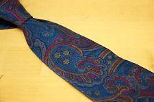 "Vintage Liberty of London Ancient Madder Blue Purple Pink Paisley Silk Tie 3.75"""