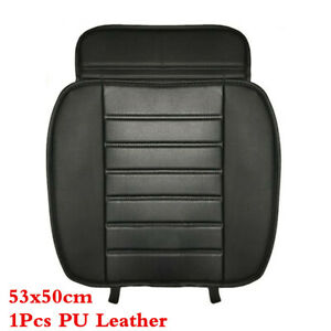 PU Leather Car Seat Cover Front Protector Cushion Cars Accessories Parts Black