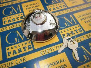 1926-1964 Cadillac LaSalle Olds Pontiac Accessory GM Locking Gas Cap w/ 2 Keys