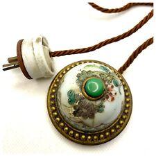 Antique Butler's Bell Chinese Export Porcelain Original Cord & Plug C. 1920