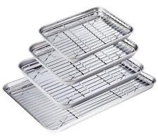 Baking Cookie Sheet Cooling Rack Stainless Steel 4 Oven Racks Tray Pan Cool Rack