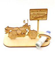 Geschenk zum Moped Führerschein, DDR Motorrad, 50 ccm Power Namens Gravur