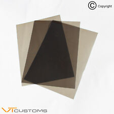 3 x A4 sheets Medium Smoke Headlight Film for Fog Lights Tint Car Vinyl Wrap