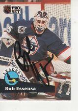 BOB ESSENSA SIGNED 1991 PROSET #602 - WINNIPEG JETS