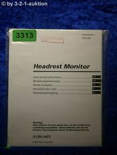Sony Bedienungsanleitung XVM H65 Headrest Monitor (#3313)