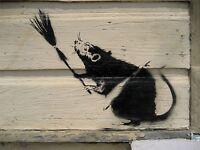 ART PRINT POSTER PHOTO GRAFFITI STREET BANKSY BROOM RAT NEW ORLEANS NOFL0368