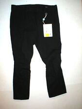 New NWT Designer Womens Miu Miu Italy Pants Black 46 12 Knee Seams Unique Crop