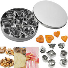 24pcs Mini Cookie Cutter Set Stainless Steel Baking Pastry Cutters Slicers Tools