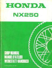 Honda NX250 1988 Shop Manual