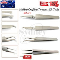 Watch Maker Surgical Tweezers Fine Point Grasping Pick Up Portable Instruments