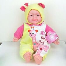 "Cute Laughing Baby in Giraffe Realistic Plush Toy Doll Life Size 16"" New"