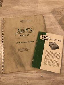 Ampex 600 Reel to Reel Maintenance manual and operators Guide