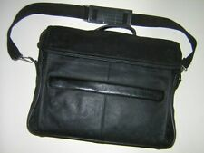 "Vintage Stebco Leather Laptop Carry Case Shoulder Bag fits 16""  Notebook"