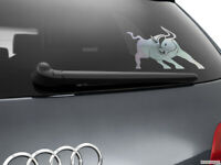 Bull Car Sticker Styling Window Decal, Chrome