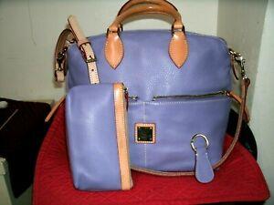 Dooney and Bourke NWOT Dillen Lavender and Tan 3pc Set Satchel Shoulder Bag!