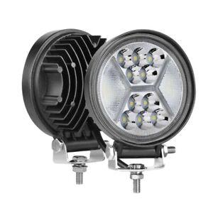 2X 5 inch 400W Round LED Work Light Bar Driving DRL Fog Lights Spot Flood  D9M7