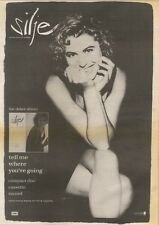 11/8/90 Pgn02 Advert: Silje The Album tell Me Where Youre Going 15x11