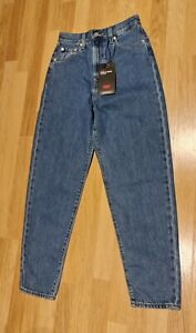 LEVI's High Loose Taper Jeans - Medium Indigo (26x29)