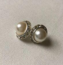 Ivory Faux Pearl Wedding Stud Earrings