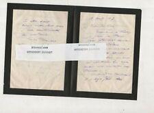 lot 4 lettres autographes signées  Max Blondat sculpteur céramiste , chasseur