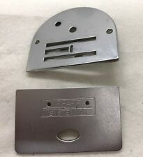 ORIGINAL  PFAFF NEEDLE PLATE & SLIDE PLATE 259 260 262, VERY GOOD CONDITION