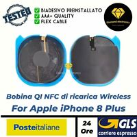 Bobina NFC Ricarica Wireless Charge QI + Cavo Flex Flat Apple iPhone 8 plus